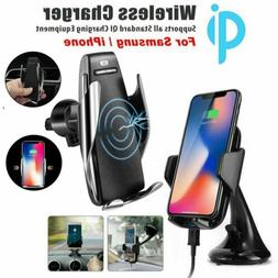 Automatic Sensor Qi Wireless Charger Car Mount Phone Holder