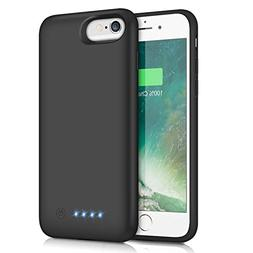 Pxwaxpy Battery Case for iPhone 6S 6 6000mAh Rechargeable Ch