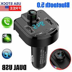 Wireless Bluetooth Auto Handsfree Car AUX Audio Receiver FM