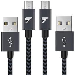 RAMPOW Braided Micro-USB Cable  Android Charger Cable/Samsun