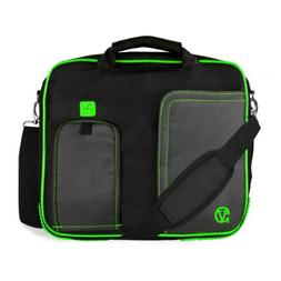 Business / Travel / College Green Messenger Bag / Briefcase