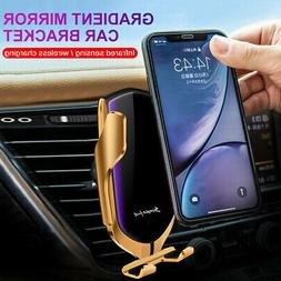 Car Automatic Clamping Phone Wireless Charger Holder Smart S