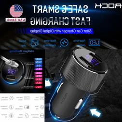 Car Charger 5V 3.4A Dual USB Car Charger Adapter LED Display