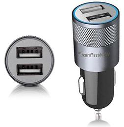 Car Charger,WirelessFinest,Dual Port 3.1A USB Car Charger Ad
