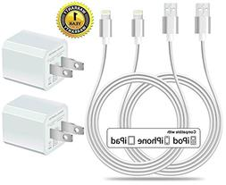 Certified 5W 1A USB Power Wall Charger with 2-Pack 10FT/3M