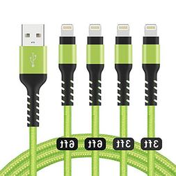 Azhizco Charger Cable 4Pack  Nylon Braided Charging and Sync