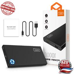 Phone Size 10000mAh 4.8A Dual USB Portable Power Bank Charge