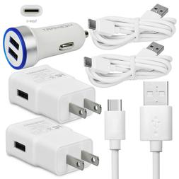 Fast Cell Phone Charger Car Wall Plug Cable for Samsung Gala