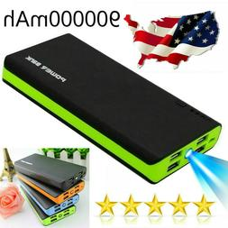 Fast Charging Phone Charger 4 USB Power Bank 500000mAh LED E