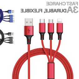 Fast USB Charging Cable Universal 3 in 1 Multi Function Cell