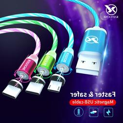 Flowing Glowing Magnetic Cable <font><b>Micro</b></font> <fo