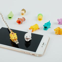i Phone Cartoon Animal Cable Bite Cute Charger Protector Sof