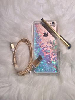 iPhone 6 6s Cell phone Glitter Quicksand Transparent Floatin