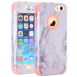 iPhone 5S Case, iPhone SE Case, Asstar 3 In 1 Soft Silicone