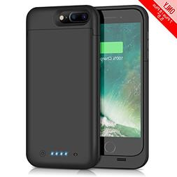 iPhone 7 Plus 8 Plus Battery Case 7000mAh Capacity, Gixvdcu