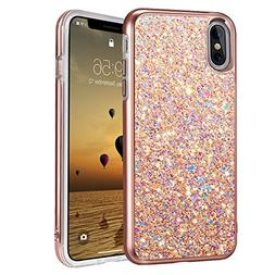iPhone X Case, iPhone 10 Case, MIRACASE Shockproof Glitter S