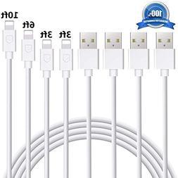 iPhone Charger Eashion Lightning Cable 4Pack 3FT+3FT+6FT+10F