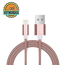 PinPle iPhone Charger Lightning to USB Cable Stainless Steel