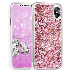 iPhone X Case, iPhone Xs Case, Asstar Glitter Liquid Sparkle
