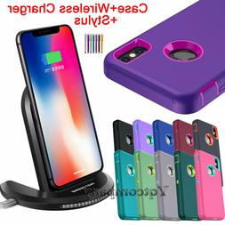 iPhone XR XS Max X Phone Case Cover Shockproof Rubber Hard +