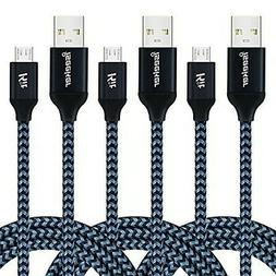 iSeeker High Charging Speed Nylon Braided Micro USB Cable Co