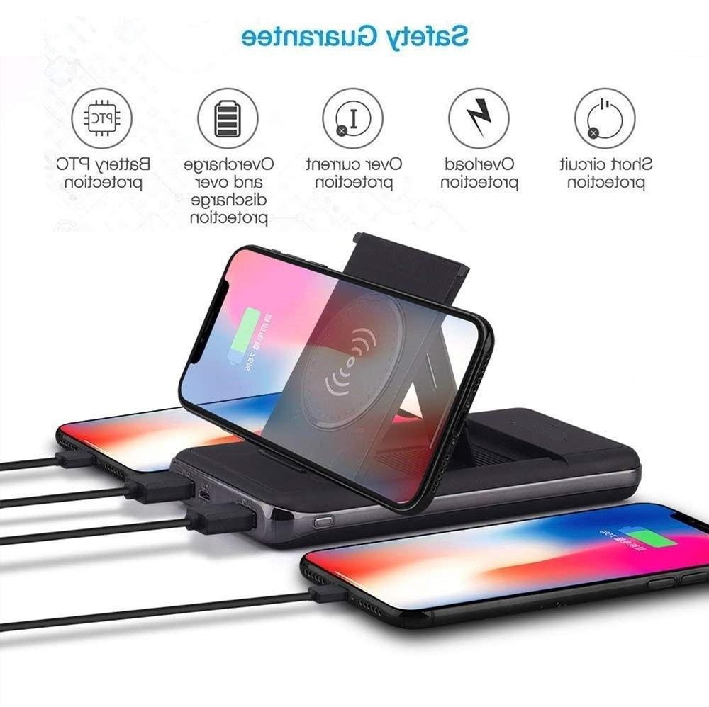 900000mAh Qi Wireless Charger Foldable Bracket Portable Batt