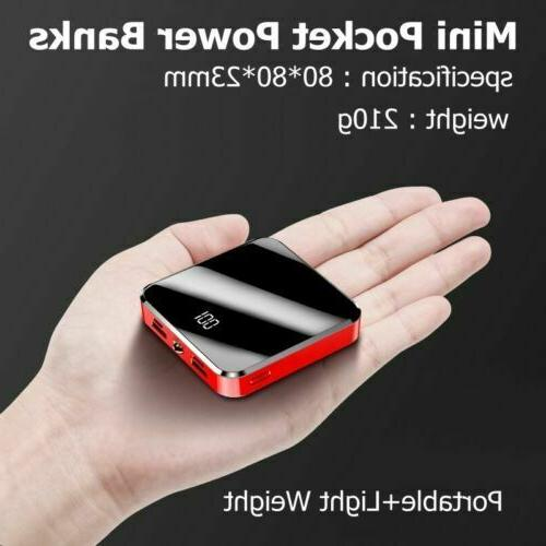 10000mAh Portable Power Mini LCD USB Battery Mobile Phone
