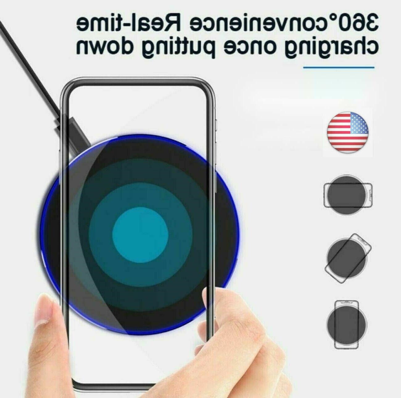 10W Wireless Charger Charging Pad for Phone Samsung Android