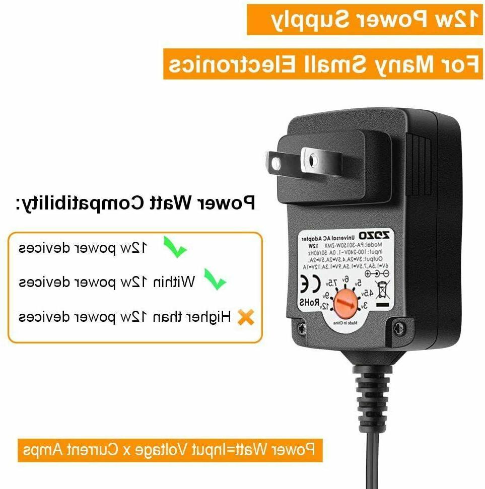 12W 7.5V Regulated Multi Voltage Power Adapter
