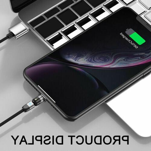 180+360° Magnetic Cable Micro C Charger For Samsung