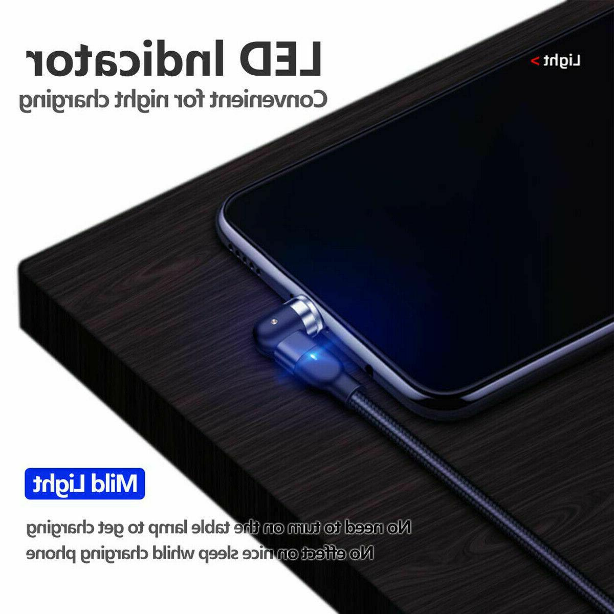 180+360° Magnetic Phone Charger Cable USB iPhone Type