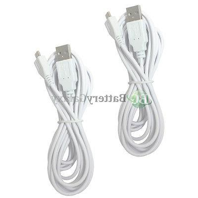 2 NEW Micro 10FT USB Battery Charger Data Cable Cord For And