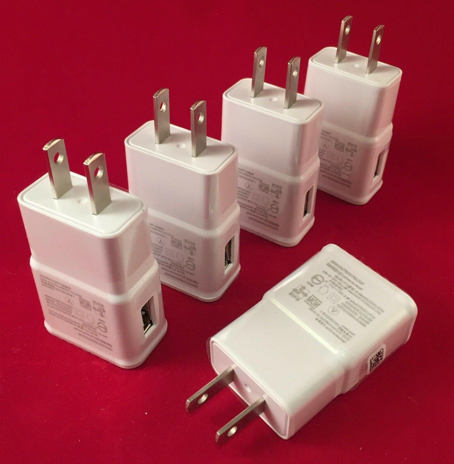 5X  2AMP Cell Phone Wall Charger White or Black for SAMSUNG