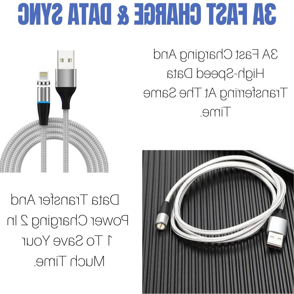 3 Pack Lightning Magnetic Cable 3A For iPhone