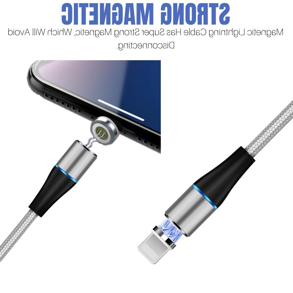 3 Pack Lightning Magnetic Charging Cable 3A