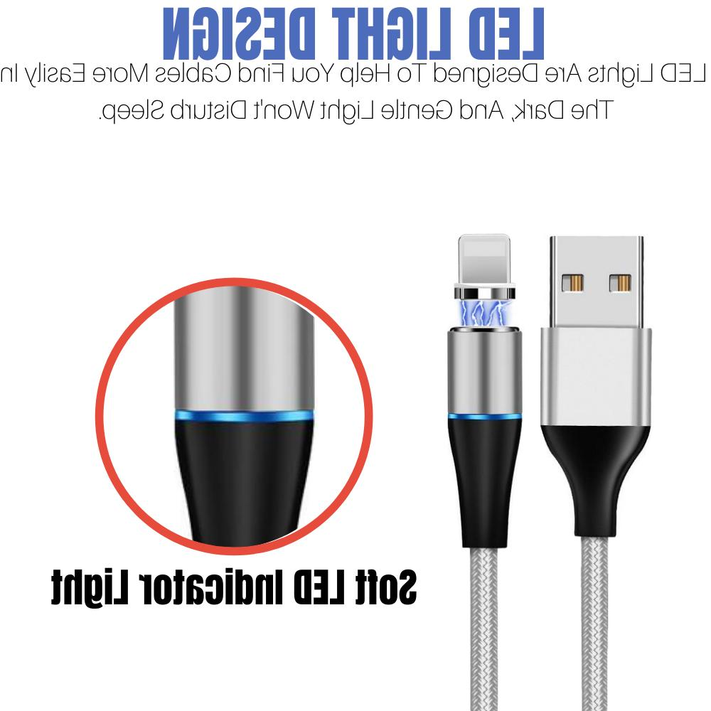 3 Pack 3/6Ft Lightning Magnetic Cable 3A iPhone