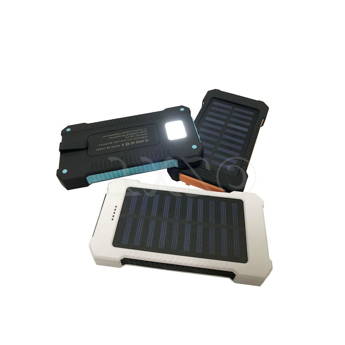 300000mAh Dual Solar Battery Charger Power For Phone USA