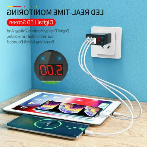 3 Wall Charger LED DIGITAL For Phone US