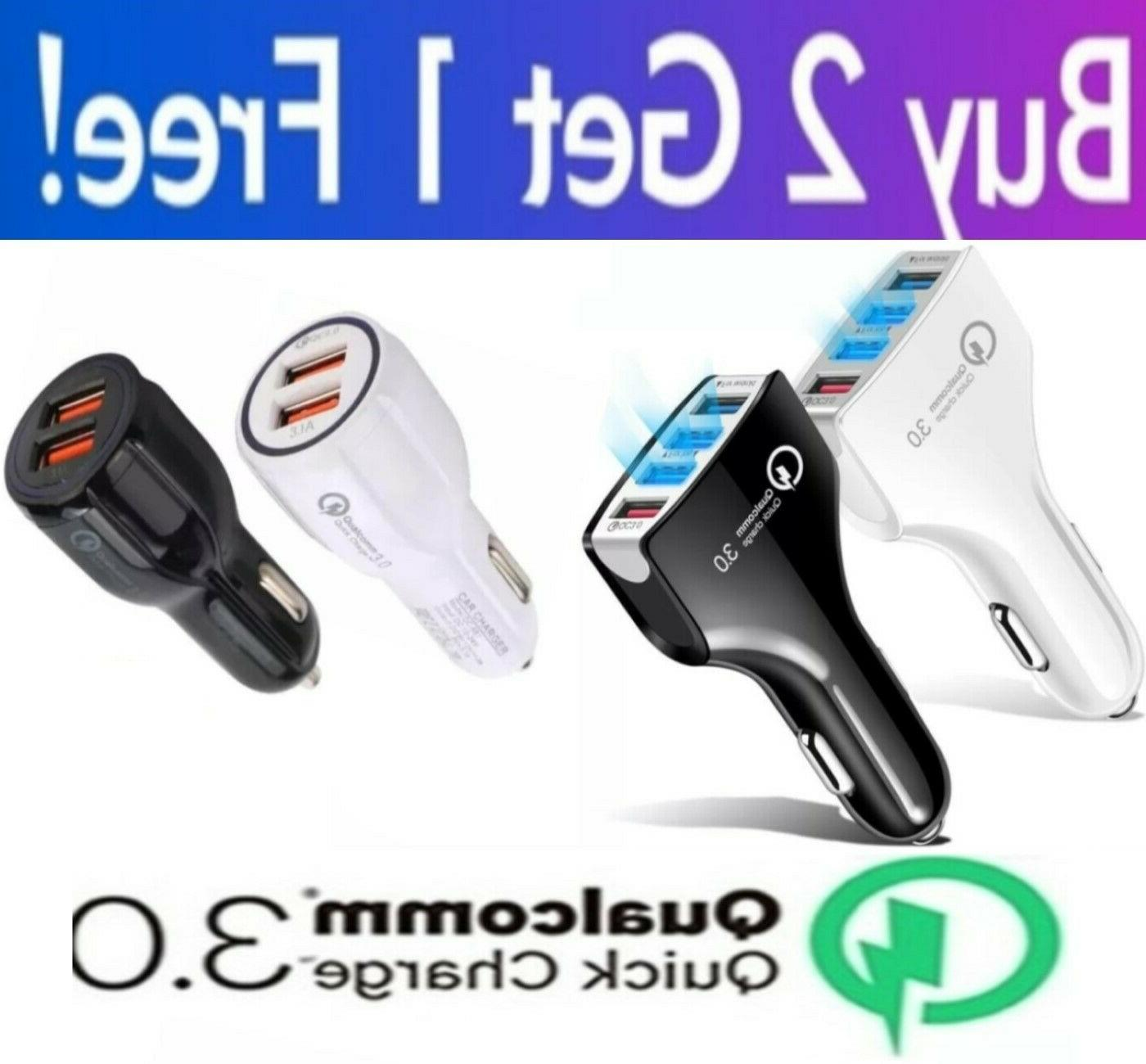 2 3 4 Port Car Charger for iPhone LG