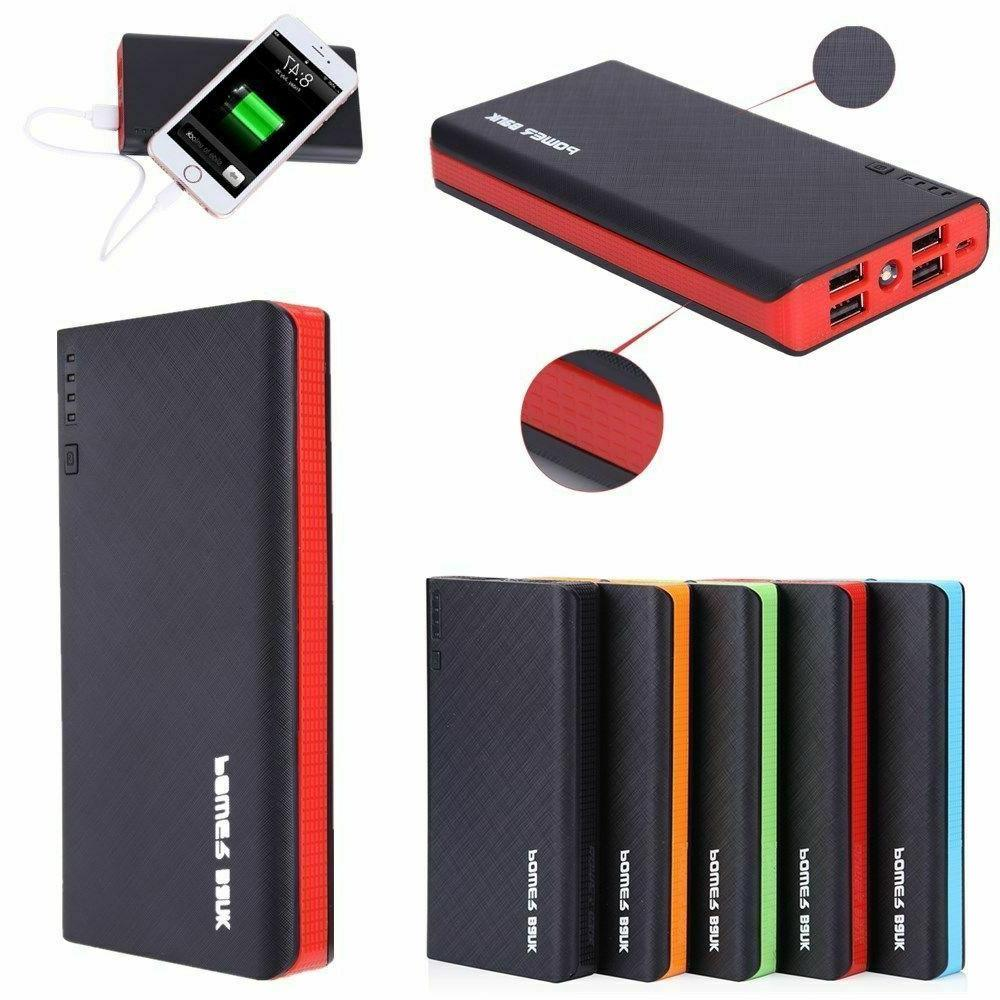 NEWSPOWER 4 USB 900000mAh Power Bank LED External Backup Bat
