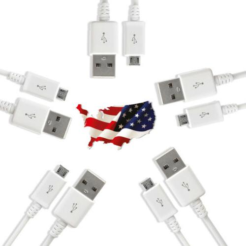 5 Pack Micro USB Charger Fast Charging Cable Cord For Samsun