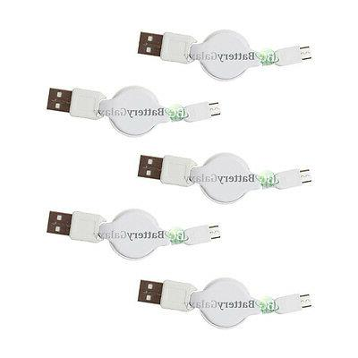5 micro usb retract charger cable