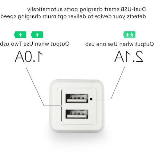 5 USB Wall Charger Adapter AC Universal Iphone Samsung LG