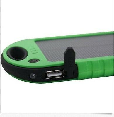 5000 mah Dual-USB Solar Power Charger for