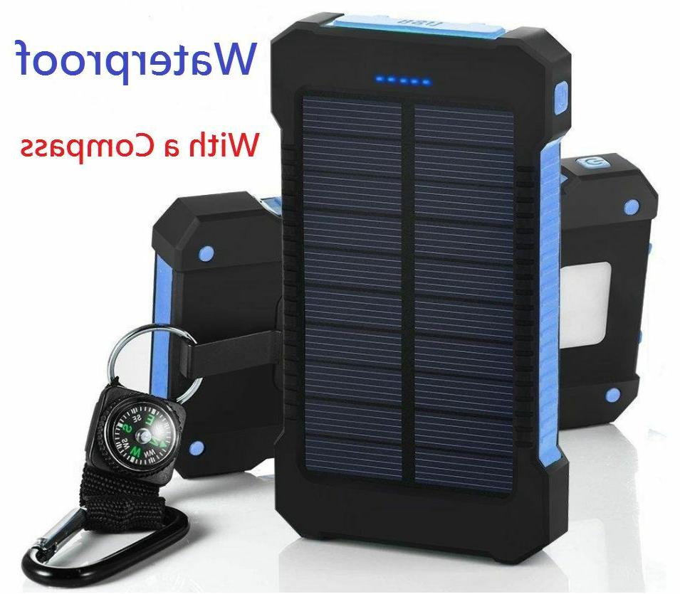 500000mAh Solar Battery Charger Power Bank For USA