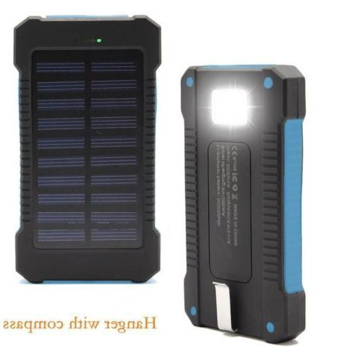 500000mAh Dual Solar Battery Charger Solar Power For USA