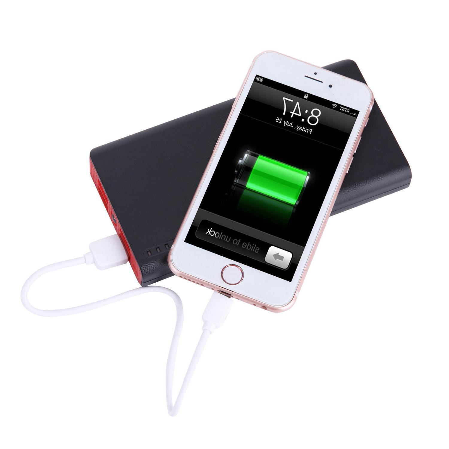 20000mAh USB Power Bank Portable LED Charger Phone