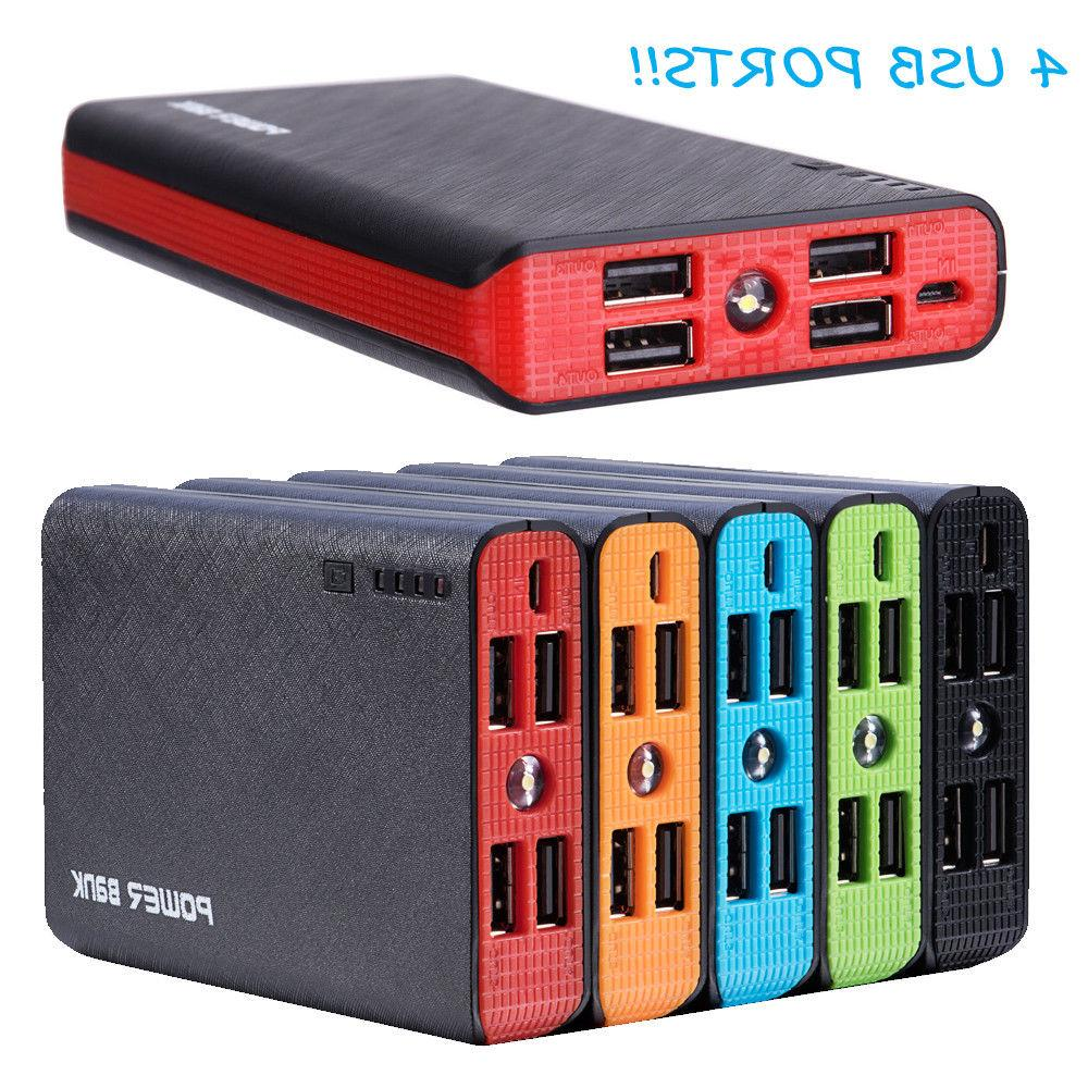 50000mah 4 usb external power bank portable
