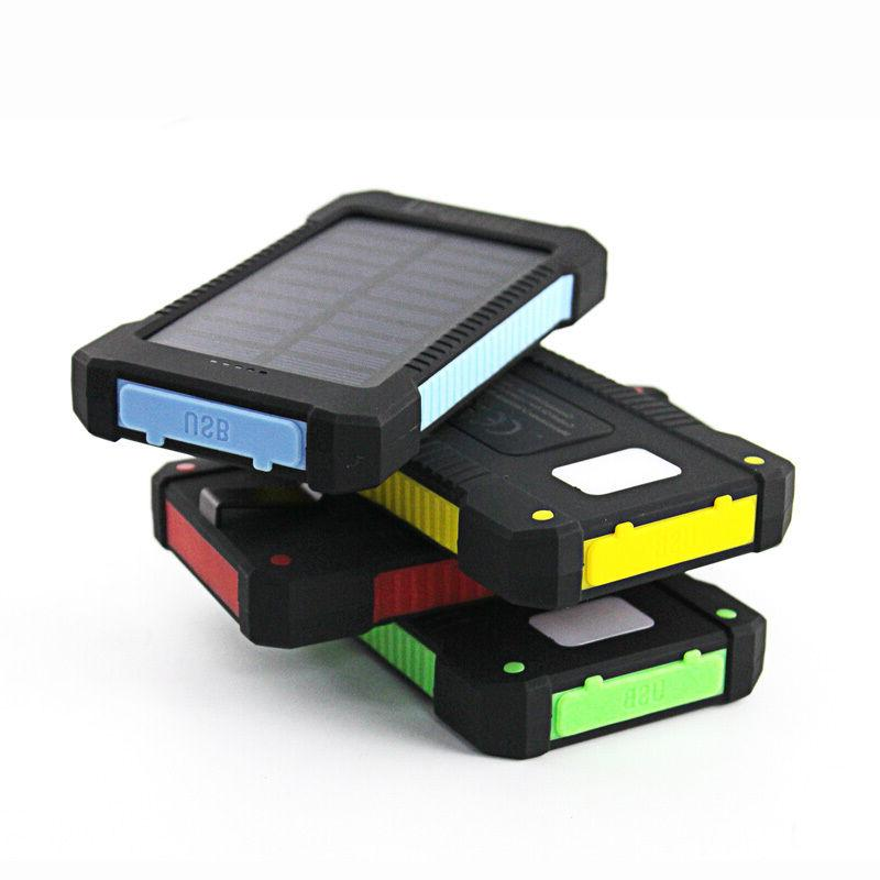 50000mah Dual-USB Solar Power Bank for Cell