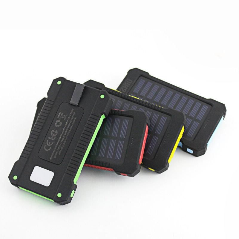 50000mah Dual-USB Waterproof Solar Power Charger for Cell Phone Us